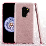 Full Glitter Hybrid Protective Case for Samsung Galaxy S9 Plus - Pink