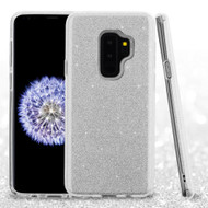 Full Glitter Hybrid Protective Case for Samsung Galaxy S9 Plus - Silver