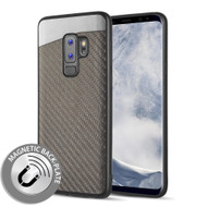 *Sale* Carbon Metallic Luxury Fusion Case with Magnetic Back Plate for Samsung Galaxy S9 Plus - Grey