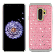 *Sale* TotalDefense Diamond Hybrid Case for Samsung Galaxy S9 Plus - Pearl Pink Grey