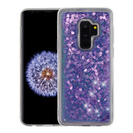 Quicksand Glitter Transparent Case for Samsung Galaxy S9 Plus - Purple