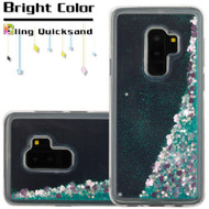 Quicksand Glitter Transparent Case for Samsung Galaxy S9 Plus - Teal Green