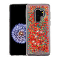 Quicksand Glitter Transparent Case for Samsung Galaxy S9 Plus - Red
