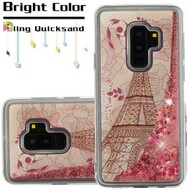 Quicksand Glitter Transparent Case for Samsung Galaxy S9 Plus - Eiffel Tower