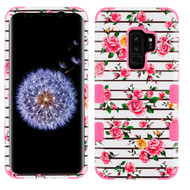 Military Grade Certified TUFF Image Hybrid Armor Case for Samsung Galaxy S9 Plus - Pink Fresh Roses