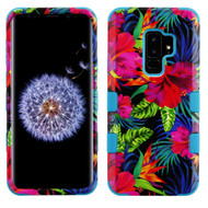 Military Grade Certified TUFF Image Hybrid Armor Case for Samsung Galaxy S9 Plus - Electric Hibiscus