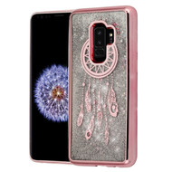 Electroplating Quicksand Glitter Transparent Case for Samsung Galaxy S9 Plus - Dreamcatcher Rose Gold