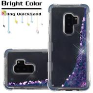 Tuff Lite Quicksand Glitter Transparent Case for Samsung Galaxy S9 Plus - Purple