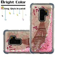 Tuff Lite Quicksand Glitter Transparent Case for Samsung Galaxy S9 Plus - Eiffel Tower