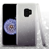 Full Glitter Hybrid Protective Case for Samsung Galaxy S9 - Gradient Black