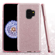 Full Glitter Hybrid Protective Case for Samsung Galaxy S9 - Pink