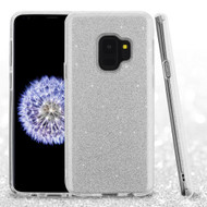 Full Glitter Hybrid Protective Case for Samsung Galaxy S9 - Silver
