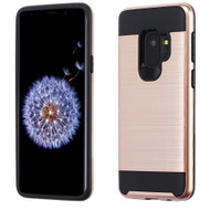 Brushed Coated Hybrid Armor Case for Samsung Galaxy S9 - Rose Gold