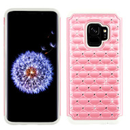 TotalDefense Diamond Hybrid Case for Samsung Galaxy S9 - Pearl Pink Grey