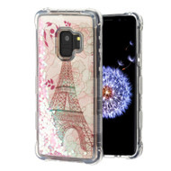 Tuff Lite Quicksand Glitter Transparent Case for Samsung Galaxy S9 - Eiffel Tower