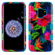 Military Grade Certified TUFF Image Hybrid Armor Case for Samsung Galaxy S9 - Electric Hibiscus