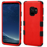 Military Grade Certified TUFF Hybrid Armor Case for Samsung Galaxy S9 - Red