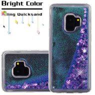 Quicksand Glitter Transparent Case for Samsung Galaxy S9 - Purple