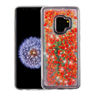 Quicksand Glitter Transparent Case for Samsung Galaxy S9 - Red