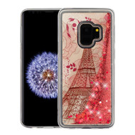 Quicksand Glitter Transparent Case for Samsung Galaxy S9 - Eiffel Tower