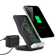HyperGear Wireless Fast Charging Stand with Quick Charge 3.0 Wall Adapter