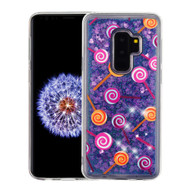 Quicksand Glitter Transparent Case for Samsung Galaxy S9 Plus - Lollipop