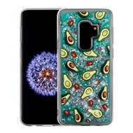 Quicksand Glitter Transparent Case for Samsung Galaxy S9 Plus - Avocado