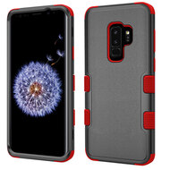 Military Grade Certified TUFF Hybrid Armor Case for Samsung Galaxy S9 Plus - Black Red