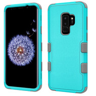 Military Grade Certified TUFF Hybrid Armor Case for Samsung Galaxy S9 Plus - Teal Green Grey