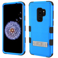 Military Grade Certified TUFF Hybrid Armor Case with Stand for Samsung Galaxy S9 Plus - Blue