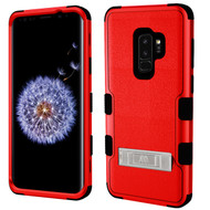Military Grade Certified TUFF Hybrid Armor Case with Stand for Samsung Galaxy S9 Plus - Red