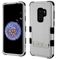 Military Grade Certified TUFF Hybrid Armor Case with Stand for Samsung Galaxy S9 Plus - Grey