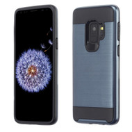 Brushed Coated Hybrid Armor Case for Samsung Galaxy S9 - Ink Blue