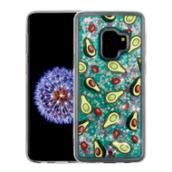 Quicksand Glitter Transparent Case for Samsung Galaxy S9 - Avocado