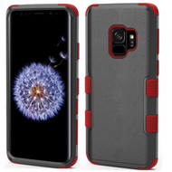 Military Grade Certified TUFF Hybrid Armor Case for Samsung Galaxy S9 - Black Red