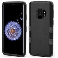 Military Grade Certified TUFF Hybrid Armor Case for Samsung Galaxy S9 - Black Grey