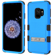 Military Grade Certified TUFF Hybrid Armor Case with Stand for Samsung Galaxy S9 - Blue