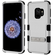 Military Grade Certified TUFF Hybrid Armor Case with Stand for Samsung Galaxy S9 - Grey