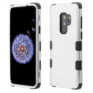 *Sale* Military Grade Certified Brushed TUFF Hybrid Armor Case for Samsung Galaxy S9 Plus - Silver
