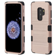Military Grade Certified Brushed TUFF Hybrid Armor Case for Samsung Galaxy S9 Plus - Rose Gold