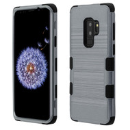 Military Grade Certified Brushed TUFF Hybrid Armor Case for Samsung Galaxy S9 Plus - Slate Blue