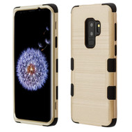 Military Grade Certified Brushed TUFF Hybrid Armor Case for Samsung Galaxy S9 Plus - Gold