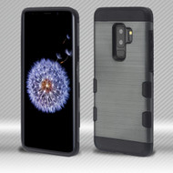 Military Grade Certified TUFF Trooper Dual Layer Hybrid Armor Case for Samsung Galaxy S9 Plus - Slate Blue