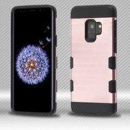 Military Grade Certified TUFF Trooper Dual Layer Hybrid Armor Case for Samsung Galaxy S9 - Rose Gold