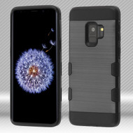 Military Grade Certified TUFF Trooper Dual Layer Hybrid Armor Case for Samsung Galaxy S9 - Black