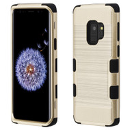 Military Grade Certified Brushed TUFF Hybrid Armor Case for Samsung Galaxy S9 - Gold