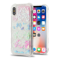 *SALE* Tuff Lite Quicksand Glitter Transparent Case for iPhone XS / X - Semicircle Partition