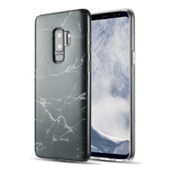 Marble IMD Soft TPU Case for Samsung Galaxy S9 Plus - Black