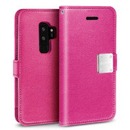 *Sale* Essential Leather Wallet Case for Samsung Galaxy S9 Plus - Hot Pink