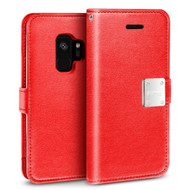 *SALE* Essential Leather Wallet Case for Samsung Galaxy S9 - Red